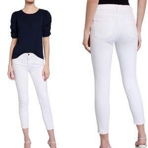Frame White Le Skinny De Jeanne Crop Jeans